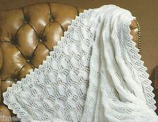 VINTAGE KNITTING PATTERN FOR BABY / BABY'S GORGEOUS SHAWL / BLANKET  IN 4 PLY