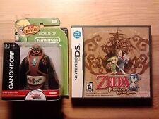 """COMPLETE THE LEGEND OF ZELDA PHANTOM HOURGLASS DS 3DS + 2.5"""" TOON GANONDORF"""