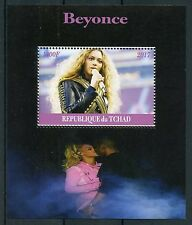 Chad 2017 MNH Beyonce 1v M/S Music Pop Stars Celebrities Stamps
