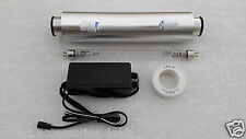 "For RO/UV Water Filter Purifier Philips UV Lamp 8"" 11W +Housing/Barrel + Adapter"