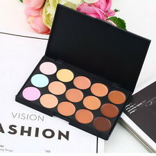 15 Color Pro Makeup Facial Concealer Camouflage Cream Palette Cosmetic LS
