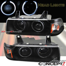 92-99 BMW E36 4DR SEDAN HALO PROJECTOR HEADLIGHTS BLACK STYLE NEW PAIR