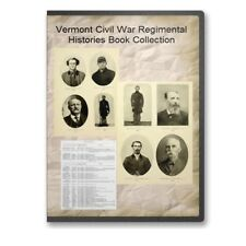 Vermont VT Civil War Regiment Genealogy 18 Book Set - B501