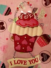 Valentines Day Heart Cupcake Door Wreath Wall Hanging Wall Sign FLORAL Picks Swa