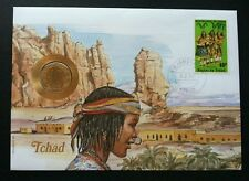 Tchad Traditional Dance 1990 FDC (coin cover)