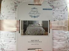 New Full/Queen Lavender Lilac Roses Simply Shabby Chic Quilt By Rachel Ashwell