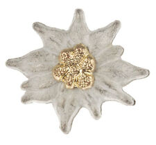 WWII GERMAN EM EDELWEISS MOUNTAIN CAP BADGE MEDAL SMALL-33934