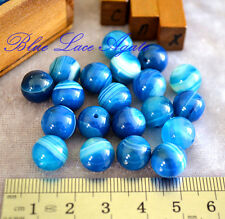 5 Pieces of Large Blue Lace Agate Round Beads 10mm Gemstone Crystal DIY Rare
