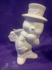 """Dona's Snowman with Snowflake on Bottom 7"""" ready to paint ceramic"""