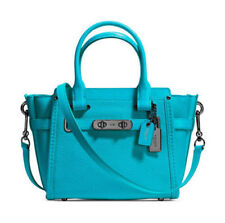 NWT Coach Swagger 21 Carryall in Pebble Leather 37444 TURQUOISE