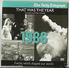 THAT WAS THE YEAR - 1986 NARRATED BY ROBERT POWELL EVENTS WHICH SHAPED OUR WORLD