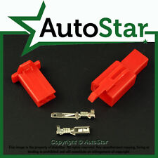 2 Way 2.8mm Mini Connector Kit RED Motorbike Honda Motorcycle Pin Connectors