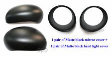 MATTE BLACK HEAD LIGHT SIDE MIRROR COVER USE FOR NISSAN JUKE HATCHBACK 2011-2013