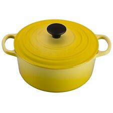 Le Creuset Signature Enameled Cast-Iron 1-Quart Round French Oven, soleil yellow