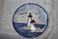 Homeplace Creations Nola Watkins Hand Painted Light House Plate Nantucket