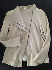 DONNA KARAN PURE South African Goatskin Leather Minimalist Jacket S $985 NWT