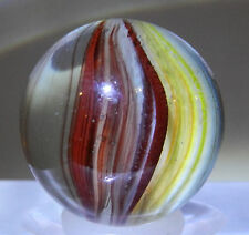 #5629m Vintage German Foreign Sparkler Marble With Oxblood .78 Inches Mint Minus