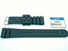 SEIKO GENUINE ORIGINAL 22mm STRAP FOR SKX173 with 2 Seiko spring  bar  C220FS