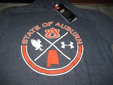WOMENS UNDER ARMOUR AUBURN TIGERS LONG SLEEVE HOODED SHIRT M MEDIUM BLUE NWT