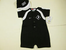 CHICAGO WHITE SOX NIKE CREEPER WITH CAP SZ 3/6 MONTH NWT