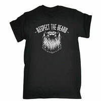 RESPECT THE BEARD T-SHIRT * FUNNY SLOGAN FASHION TEE OIL HIPSTER COOL GRAPHIC