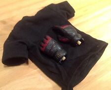1:6 rare Hot Toys Firespectre shirt, gloved hands and wrist pegs 3A Hot WWR toy