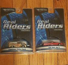 LOT of 2 Hot Wheels Real Riders 1:64 scale