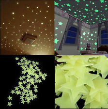 200PCS Star Wall Stickers Glow In The Dark Baby Kids Room Bedroom Sticker Diy