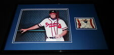 Chipper Jones Framed 11x17 Game Used Jersey & Photo Display Braves
