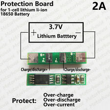 2A PCB Protection Circuit for 3.7V 18650 Li-ion lithium LiPo Battery Cell BMS