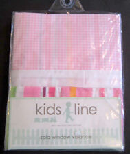 NEW Kidsline Zola Valance Curtain Pink Stripe Jungle Animal Nursery Baby