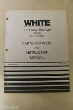 """WHITE 36"""" SNOW THROWER FOR GT-1000 Parts Catalog & Instruction Manual 990-023"""