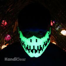 Glow In The Dark Venom Spiderman Full Kandi Mask by Kandi Gear Rave Mask