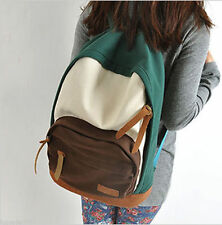 Fashion Women's Canvas Travel Satchel Shoulder Bag Backpack School Rucksack