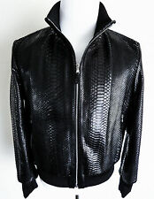 $11995 FREDO FERRUCCI 100% Python Snakeskin Leather Jacket Coat Size Medium