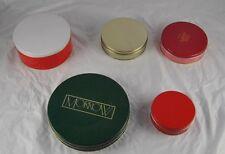 Lot of 5 Vintage Collectible Tins Morrow Almond Roca Orange & Cream Fudge  o1g2