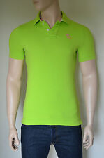 NEW Abercrombie & Fitch Mount Marshall Polo Shirt Green Pink Moose S RRP £72
