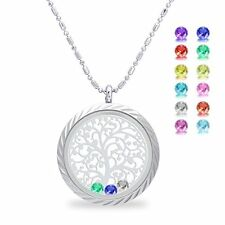 Family Tree of life Screw Floating Charm Living Memory Locket Pendant, Stainless