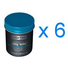 Osmo Essence Hair Styling Clay Wax No Shine Strong Hold Less Sticky100ml x 6