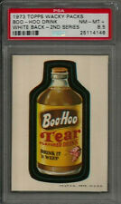 1973 Topps Wacky Packages Boo-Hoo Drink 2nd Ser. White Back PSA 8.5 NM-MT+ Card