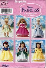Disney Belle Snow White Cinderella Sleeping Beauty Tinkerbell Simplicity 5705