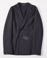NWT $2495 ARMANI BLACK LABEL Charcoal Gray Jersey Wool Sport Coat 38 R Slim-Fit