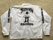 THE HUNDREDS X DEATH ROW RECORDS COACHES JACKET WHITE SZ L 1ST GEN supreme