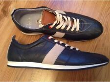 New Mens ��Clarks ��UK Size 6 Navy Tan Soft Leather Trainers Sports Shoes 40EU