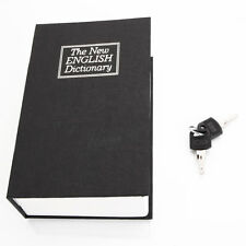 New Black Dictionary Secret Book Hidden Safe Money Box Home Security Key Lock