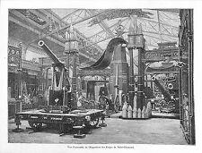 PARIS EXPOSITION UNIVERSELLE WORLD FAIR 1889 FORGES DE SAINT-CHAMOND GRAVURE