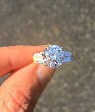 4 ct Double Baguette Ring Russian Quality CZ Imitation Moissanite Simulant 7