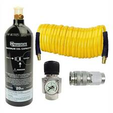 CO2 Regulator and Paintball tank, Recoil hose and Coupler Kit- WRCO2-K2
