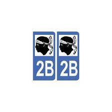 2B Corse autocollant plaque arrondis