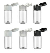 10 X Plastic Lotion Liquid Bottle Flip Cap Makeup Sample Dispenser Clear 10ML